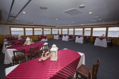 Dining Rooms Decorated for a Wedding